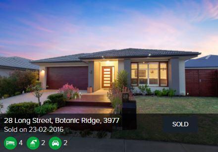 Recently sold homes Botanic Ridge VIC 3977