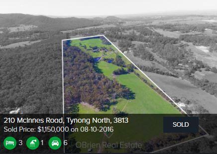 Real estate appraisal Tynong VIC 3813