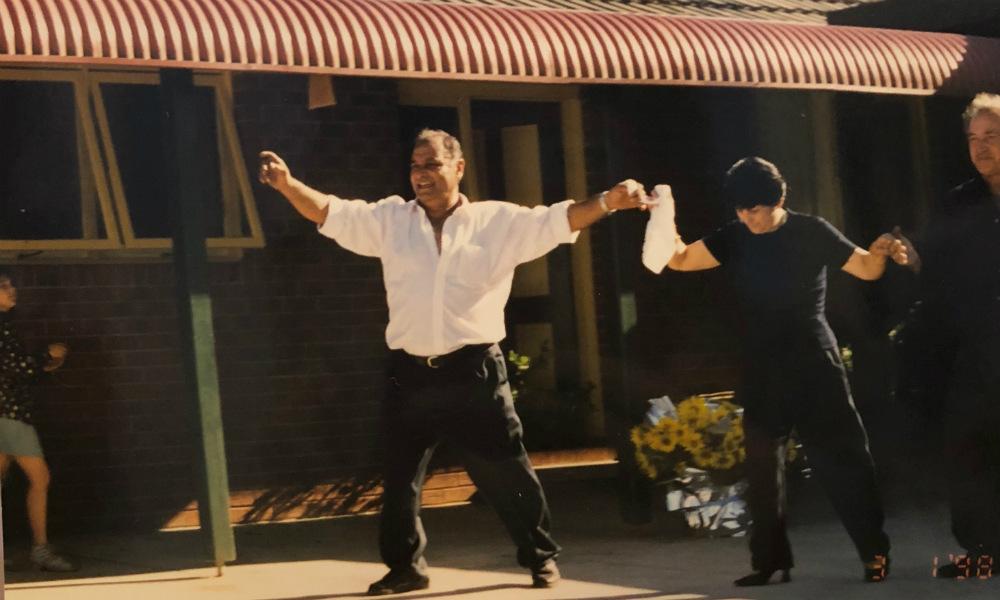 Stavros parents dancing
