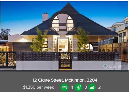 Rental appraisal McKinnon VIC 3204
