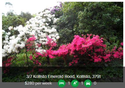 Rental appraisal Kallista VIC 3791