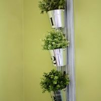 Hanging buckets vertical wall planters Melbourne