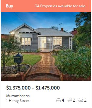Property valuation Murrumbeena VIC 3163