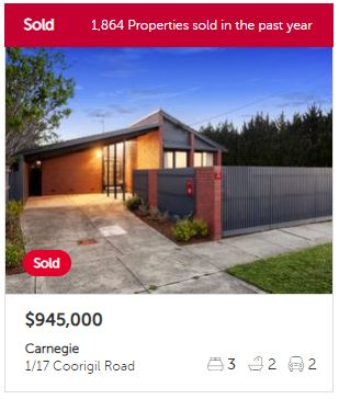 Property appraisal Carnegie VIC 3163