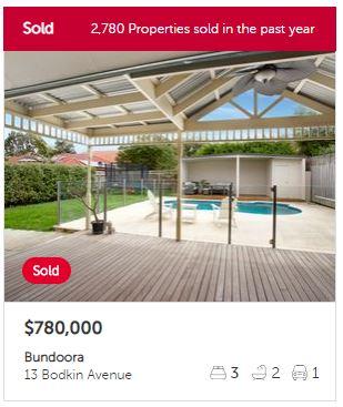 Property valuation Bundoora VIC 3083