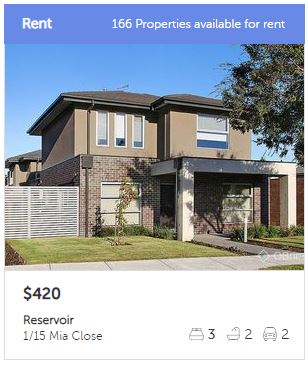 Rental appraisal Reservoir VIC 3073