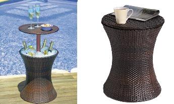 Outdoor ice bucket table