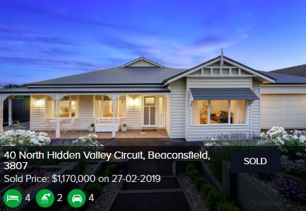 Real estate appraisal Beaconsfield VIC 3807
