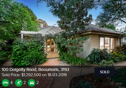 Real estate appraisal Beaumaris Victoria 3193