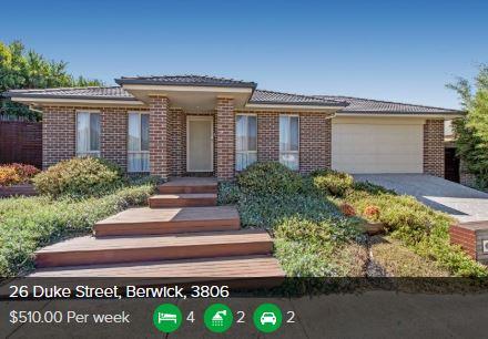 Rental appraisal Berwick VIC 3806