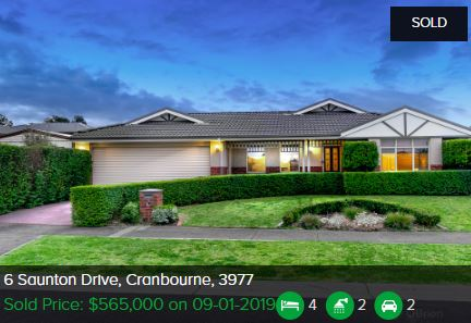 Property valuation Cranbourne VIC 3977