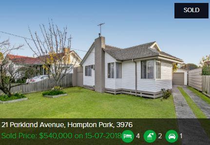 Property valuation Hampton Park Vic