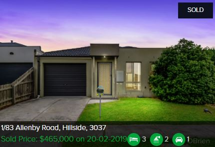 Property valuation Hillside VIC 3037