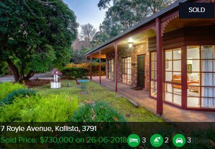 Property valuation Kallista VIC 3791