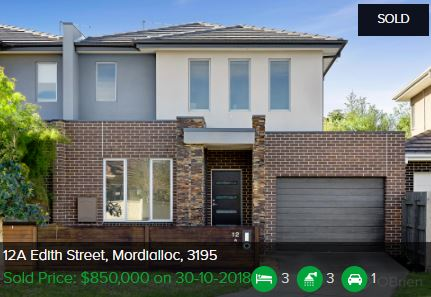 Property valuation Mordialloc VIC 3195