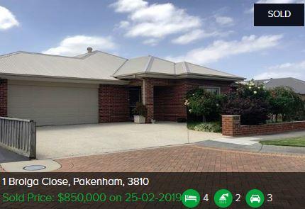 Property valuation Pakenham VIC 3810