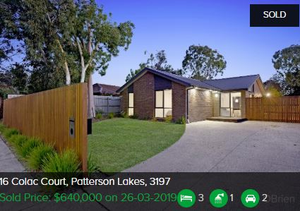 Property valuation Patterson Lakes VIC 3197