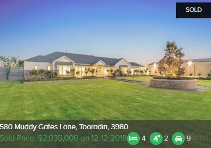 Property valuation Tooradin VIC 3980