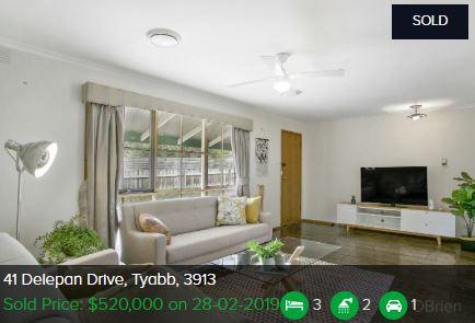 Property valuation Tyabb VIC 3913