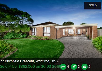 Property valuation Wantirna VIC 3152