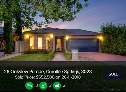 Real estate appraisal Caroline Springs VIC 3023