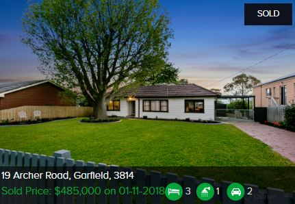 Real estate appraisal Garfield VIC 3814