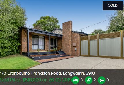 Real estate appraisal Langwarrin VIC 3910