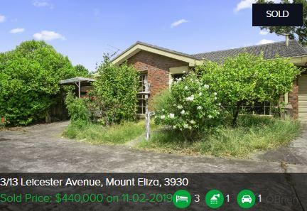 Real estate appraisal Mount Eliza VIC 3930