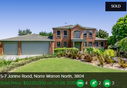 Real estate appraisal Narre Warren North VIC 3804
