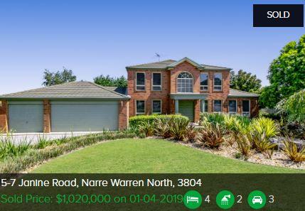 Real estate appraisal Narre Warren North VIC 3804