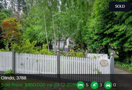 Real estate appraisal Olinda VIC 3788