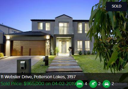 Real estate appraisal Patterson Lakes VIC 3197