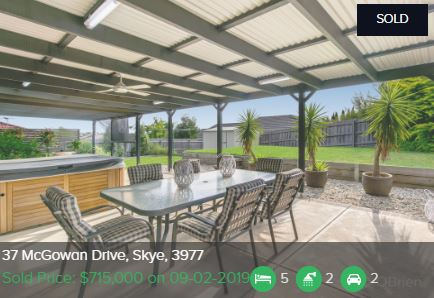 Real estate appraisal Skye VIC 3977