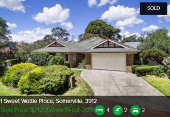 Real estate appraisal Somerville VIC 3912