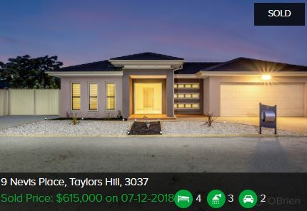 Real estate appraisal Taylors Hill VIC 3037