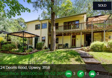 Real estate appraisal Upwey VIC 3158