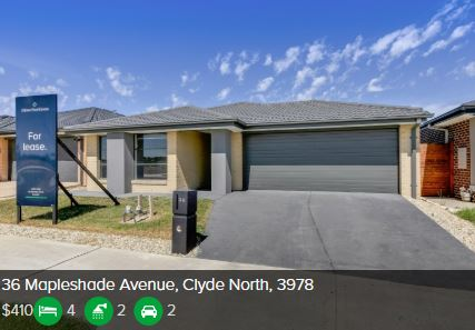 Rental appraisal Clyde North VIC 3978