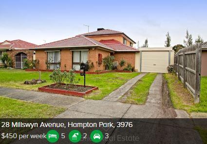 Rental appraisal Hampton Park Vic