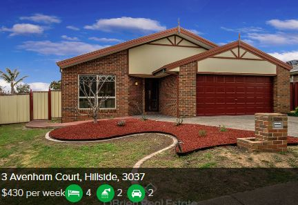Rental appraisal Hillside VIC 3037