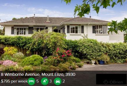 Rental appraisal Mount Eliza VIC 3930