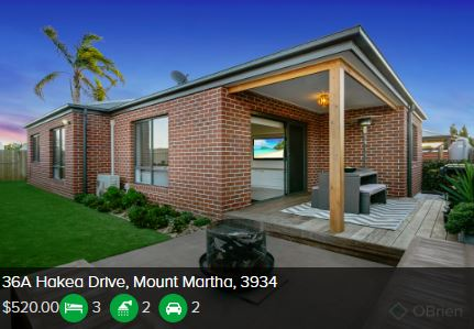 Rental appraisal Mount Martha VIC 3934