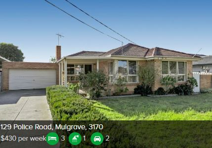 Rental appraisal Mulgrave VIC 3170