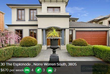 Rental appraisal Narre Warren South VIC 3805