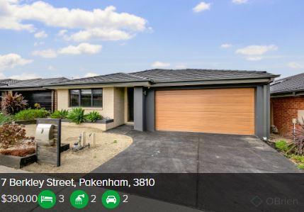 Rental appraisal Pakenham VIC 3810