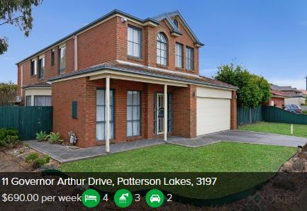 Rental appraisal Patterson Lakes VIC 3197