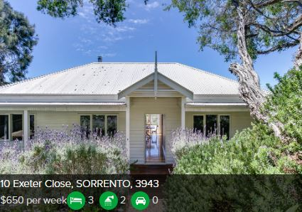 Rental appraisal Sorrento VIC 3943