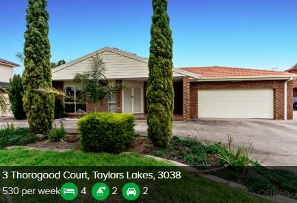 Rental appraisal Taylors Lakes VIC 3038