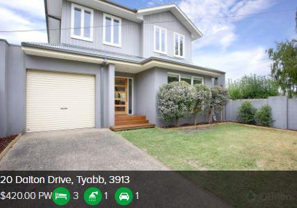 Rental appraisal Tyabb VIC 3913
