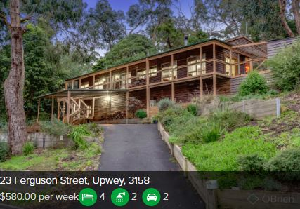Rental appraisal Upwey VIC 3158