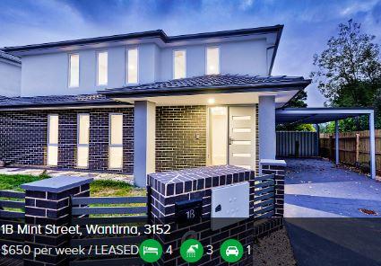 Rental appraisal Wantirna VIC 3152